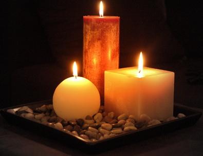 bougies utilisées pour les rituels